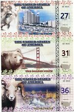 UNITED STATES UNCUT SHEET UNC 27 31 36 USA 2016 FANCY FLORIDA NEVADA CALIFORNIA