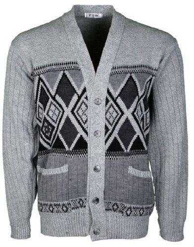 Men/'s Classic V-Neck Button-Up Grandad Cardigan,Jumper  Knitwear S-5XL