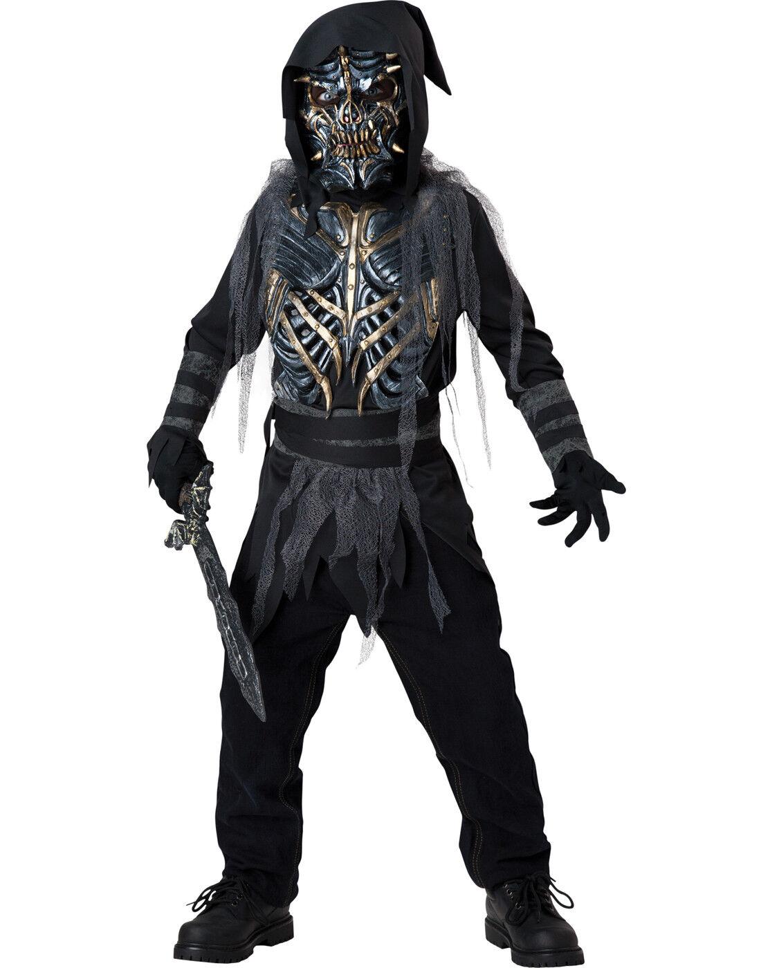 Grimm Reaper Death Warrior Scary Boys Kids Child Monster Halloween Costume