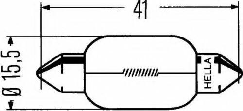 4 unidades Bombilla de luz reversa 24V 15W 8GM002091-261 por Hella