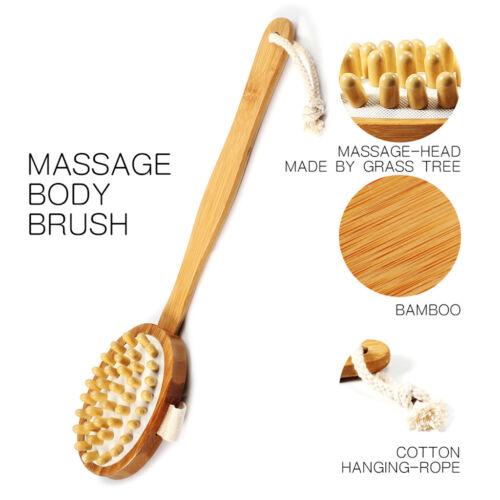 Natürliches Holz Anti Cellulite Massagebürste Fettlöser Massagegerät w //