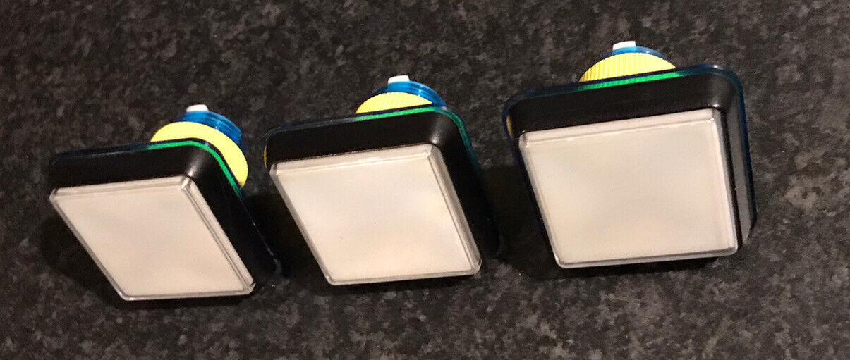 Fruit Machine Square Buttons BLUE & BLACK X3 Gamesman