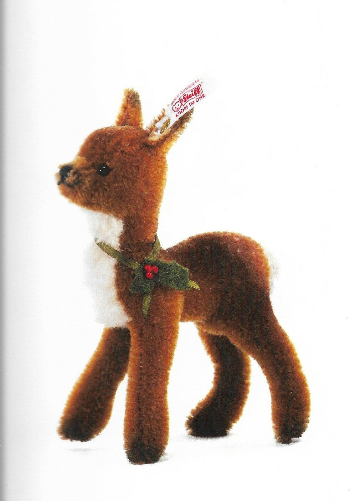 STEIFF  FAWN  036705 Marronee MOHAIR STANDING FAWN WITH SAFETY EYES 5