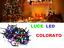 LUCI-LED-NATALE-NATALIZIE-ADDOBBI-DECORAZIONE-ALBERO-DI-NATALE-100LED-MULTICOLOR miniatura 1