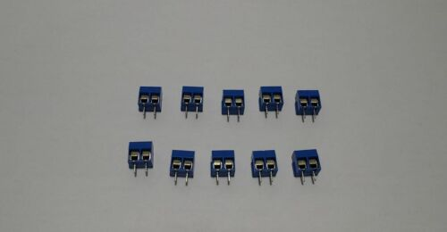 10x Blue ABS kf301-2p 5.08mm 2 Pin Connector Clamp//Screw Connector