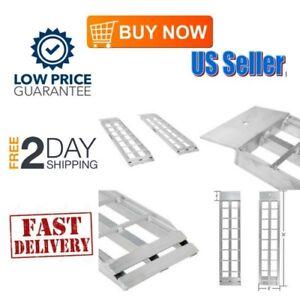 ATV-Aluminum-Loading-RAMPS-Pair-Load-Motorcycle-Truck-Tractor-4-Wheeler-1500-Lbs