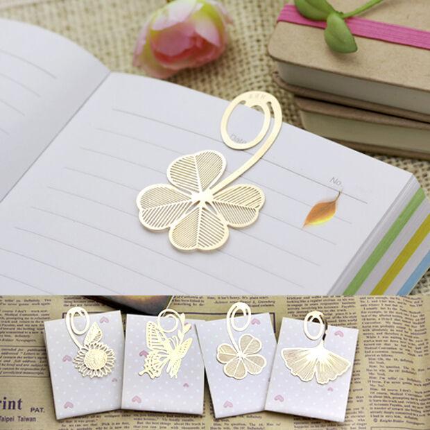1pc Pretty Cute Gold Metal Clip Book Mark Reading Magazine Paper Label Bookmark