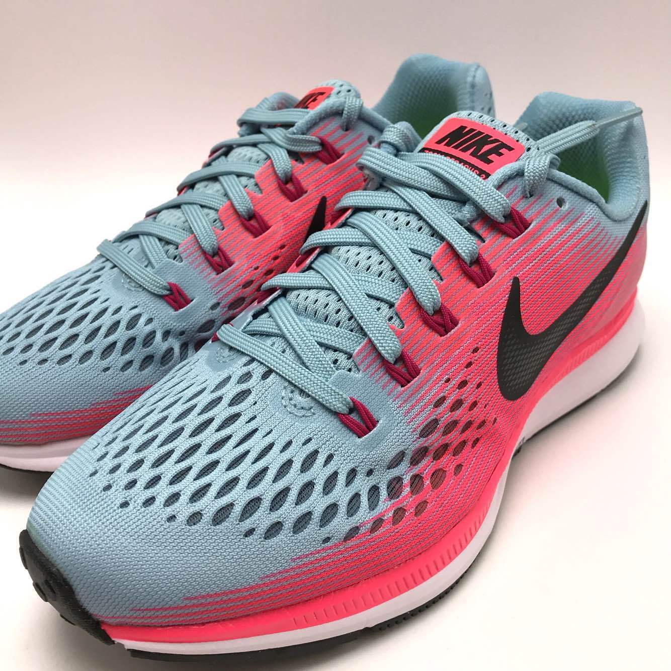 Nike Air Zoom Pegasus 34 W Women's Running Mica Blue/White-Racer Pink 880561-406 The most popular shoes for men and women