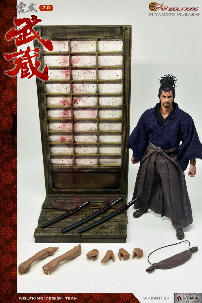 WOLFKING WK89015A 1 1 1 6 Soldiers Miyamoto Musashi 2.0 Male Action Figure Toys Gift ab09f5
