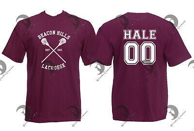 T Shirt Maglia Uomo Donna Teen Wolf Beacon Hills Lacrosse Derek Hale 00 Hoechlin