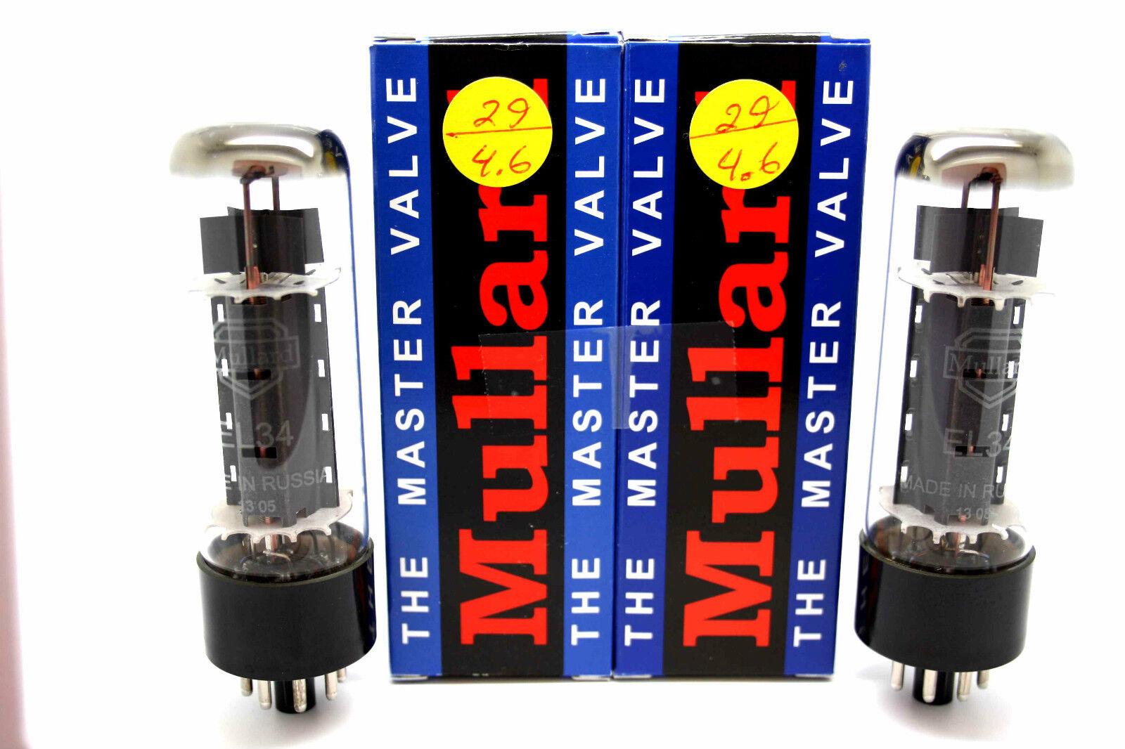 Mullard EL34 Abgestimmt Pair Vakuum Rohre Getestet Apex Übereinstimmende
