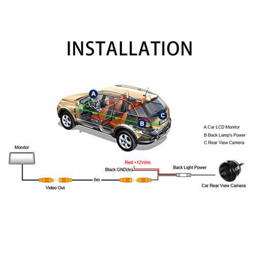 Rückfahrkamera HD Universal Auto KFZ Nachtsicht Einparkhilfe Wasserdicht Kamera