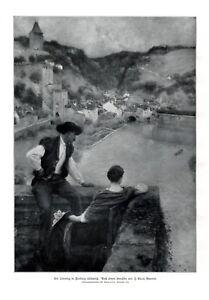 Freiburg Fribourg Schweiz XL Kunstdruck 1913 von Jules-Alexis Muenier Aussicht