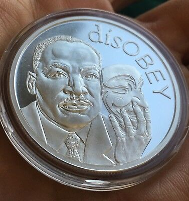 2017 Martin Luther King Jr Silver //Copper Shield disOBEY  BU rounds