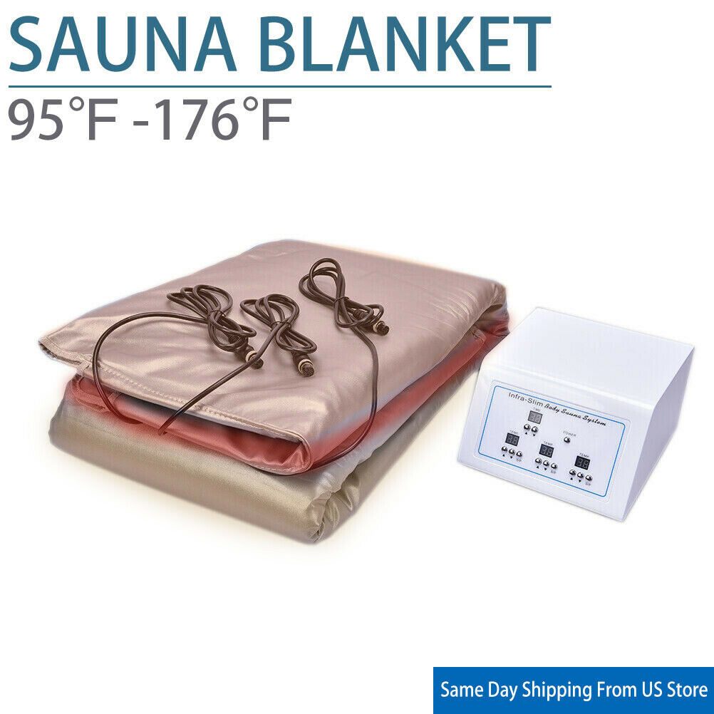 Sauna Blanket Far Infrared Weight Loss Slimming Spa Device Treatment Us Plug For Sale Online Ebay
