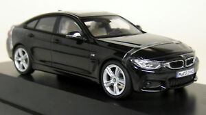 Herpa-1-43-Scale-BMW-4-Series-Gran-Coupe-F36-Carbon-Black-Diecast-Model-Car