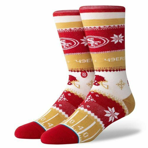 San Francisco 49ers Holiday Sweater Socks