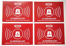 4x ABUS Aufkleber Funk Alarmanlage Dummy Einbruchschutz Sicherung Haus Wohnung