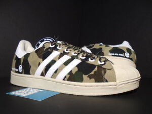 83b462920578 ADIDAS SUPER APE STAR SUPERSTAR BATHING BAPE CAMO OLIVE WHITE BONE ...