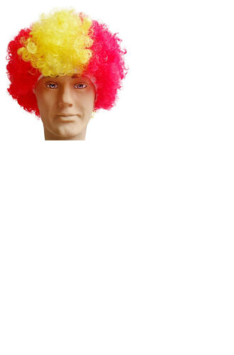 Patriotic Country Afro Wig Fancy Dress Costume Party Football