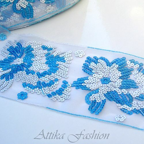 - Sequined Trim *Per yard* *9cm Wide* Hottest French