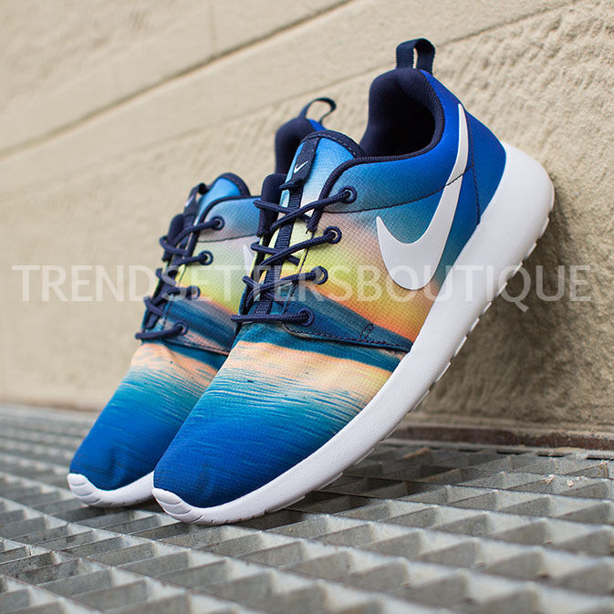 Nike Roshe run SUNRISE SUNSET 5 PALM TREES 3 4 5 SUNSET 6 7 8 9 10 5.5 511881-415 QS GS c543e1