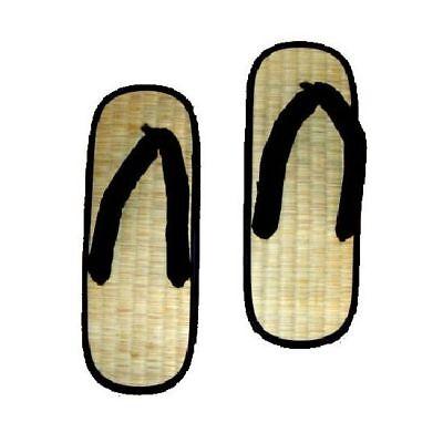 Zori Slippers X Shape Sandals Shoes Kung Fu Martial Arts Tatami Mat Zorri Home