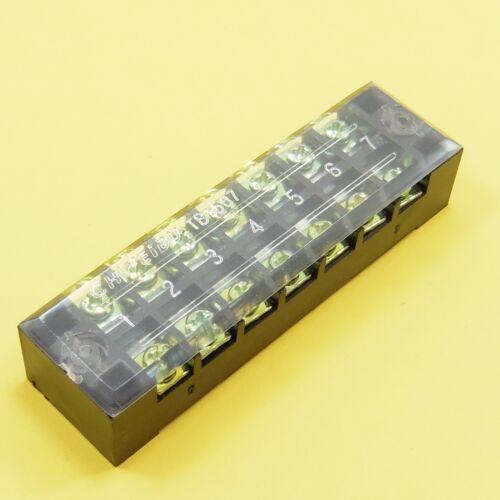 600 V 15 A Caja De Bloque Terminal fijo cubierto 3 4 5 6 7 10 12 puertos doble filas