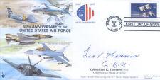 CC32 USAF RAF Flown FDC signed THORSNESS CMoH Vietnam medal holder