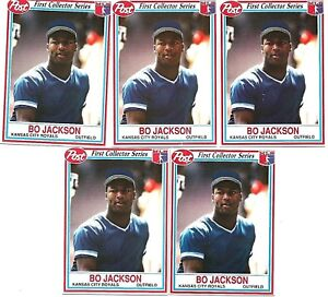 Details About 1990 Post Cereal Bo Jackson 14 5 Card Lot Kansas City Royals Lot56