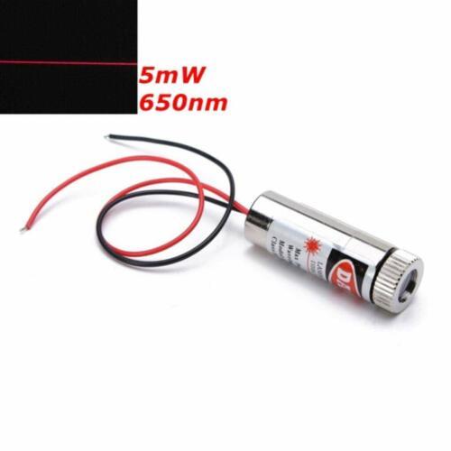 Diode Laser Linie Line Rot 5mW 650nm 5V mit Kabel Rot Adjustable