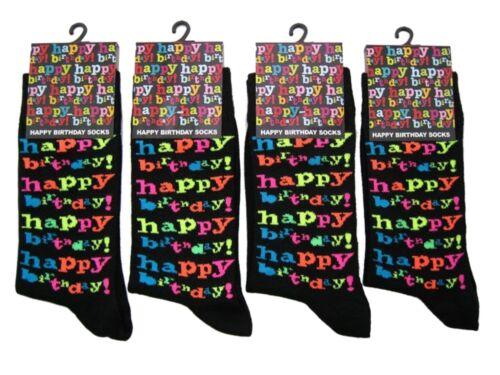 1 Boys Kids Happy Birthday Novelty Party Socks UK 4-6