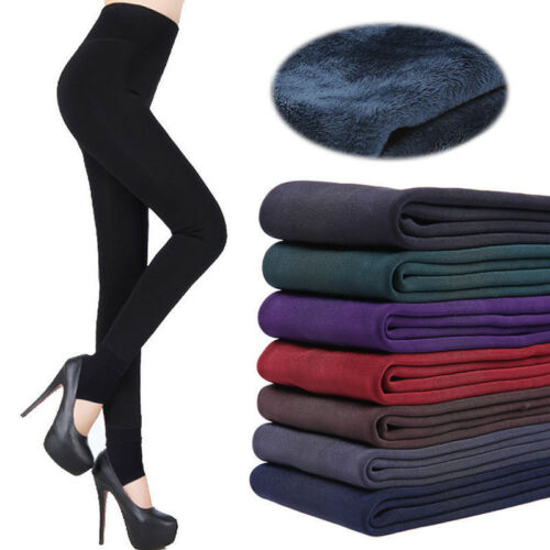 Damen Winter Leggins Thermo Leggings Hose Warm Fleece Strumpfhose Futter