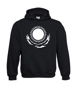 Kazakhstan-Sun-with-Eagle-I-Patter-I-Fun-I-Funny-to-5XL-I-Men-039-s-Hoodie