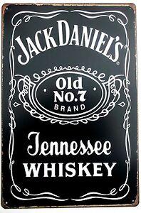Jack-Daniels-Metal-Hojalata-signos-de-Cocina-Retro-Vintage-Garaje-Ver-Detalles