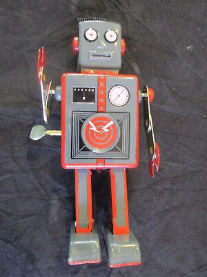 Spielzeug Sonstige Energisch Roboter ° Mechanical Robot Grau ° Blechroboter 23cm Hoch