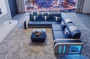 Design Sofa Couch Sitz Leder Eck Polster Garnitur Wohnlandschaft