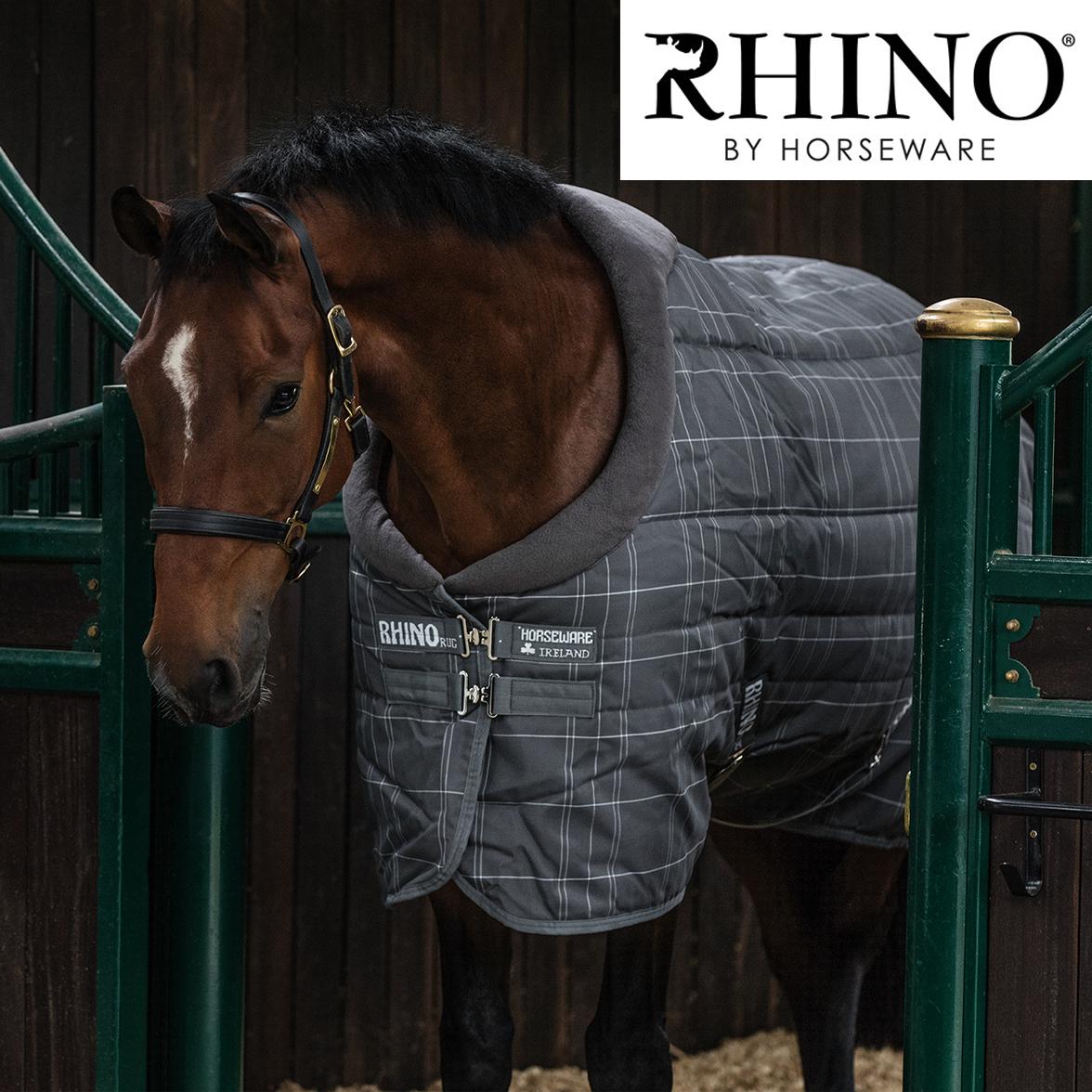 Horseware Rhino Original Medium Medium Original Stable Rug with Vari-Layer (Charcoal/Grau/Weiß 248427