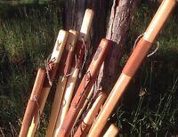 Wood Walking Stick Staff Hiking Trekking Pole Paracord Strap Wilderness Survival