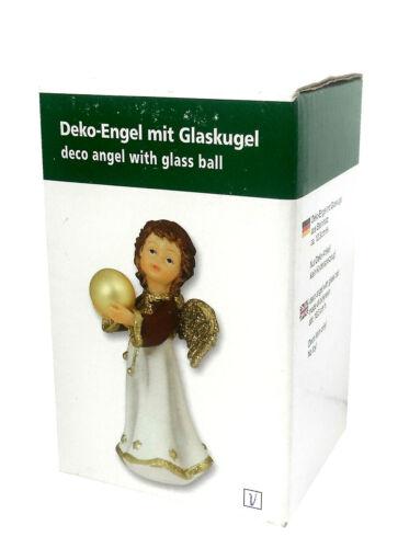 AMSEL Deko Engel mit Glaskugel ca 10,3 cm