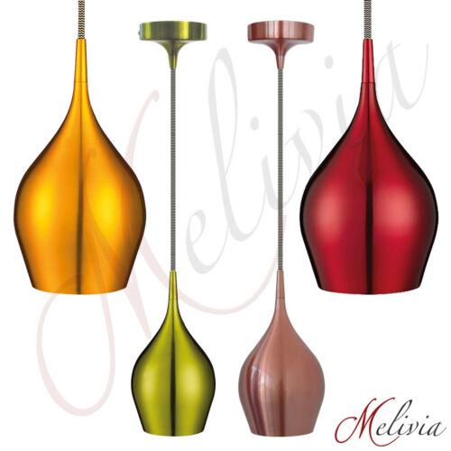 Hängelampe Pendellampe Rot Grün Gold Kupfer Pendelleuchte Deckenlampe Lampe E14