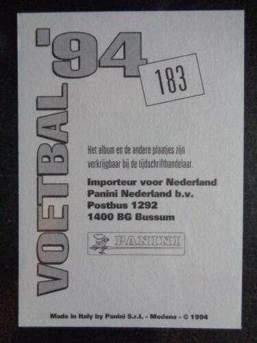 Panini Voetbal/'94-Harry sinkgraven Cambuur #183