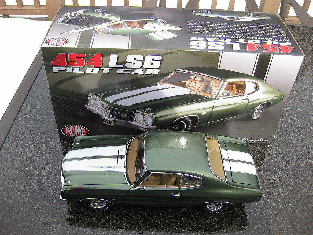 1 18 Gmp   Acme - 1970 Chevrolet Chevelle Ls6 Ss-454 Green -