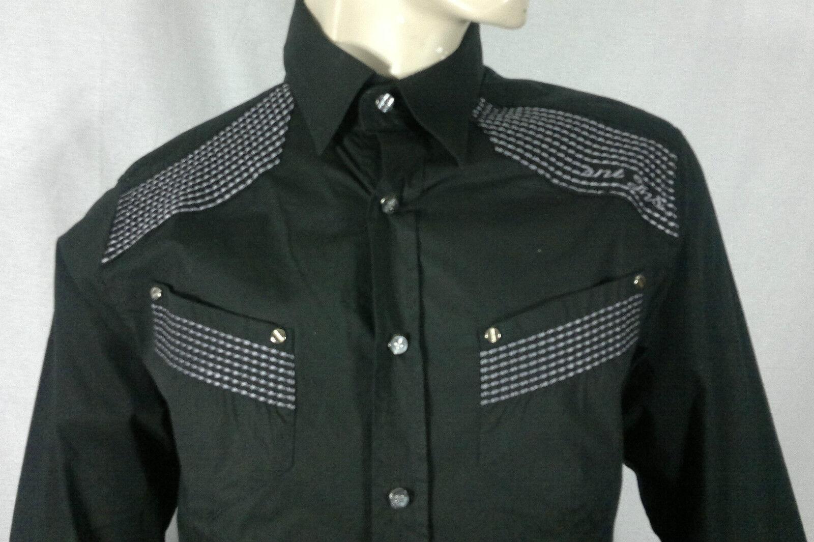 RNT 23 Jeans-Ricamo Stitch Maglietta in Nero [subito  ]