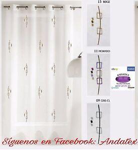 Cortinas visillos bordados confeccionados con ollaos for Visillos confeccionados