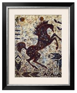 Thunderbolt, Art Print by Cecilia Henle- Horse-Native American-Southwestern