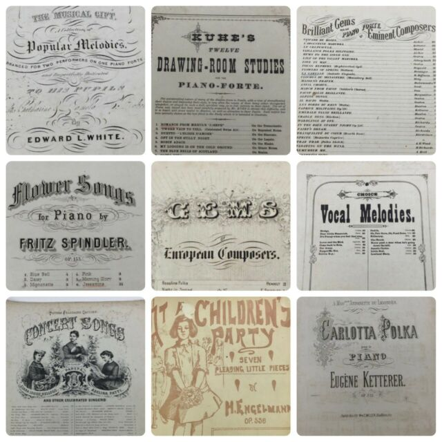 10pc Antique 1800s Sheet Music Piano Forte Voice Wreckers Daughter Luigi Arditi
