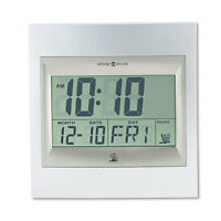 Howard Miller Techtime Ii Radio-controlled Lcd Wall/table Alarm Clock 8-3/4w X on sale