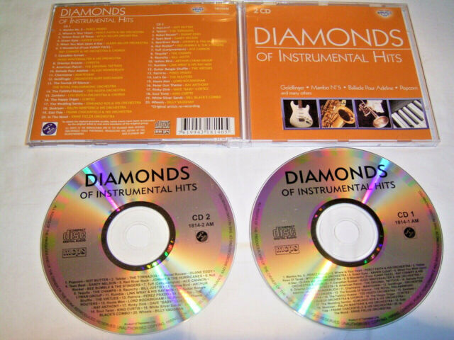 2 CD - Diamonds of Instrumental Hits - Nelson Eddy Champs Routers Curtis # R4