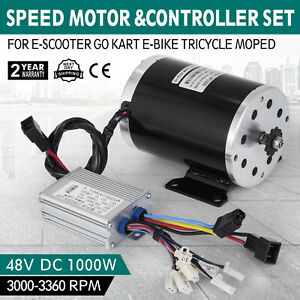 Details about 1000W 48V DC Brushless motor BY1000+Speed controller GoKart  Scooter eBike DIY